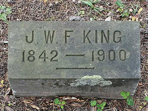 J.W.F. King Gravestone Photo