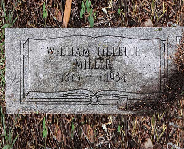 William Tillette Miller Gravestone Photo