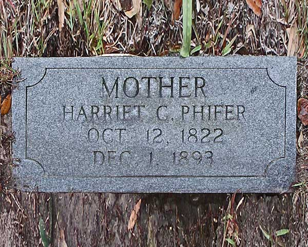 Harriet C. Phifer Gravestone Photo