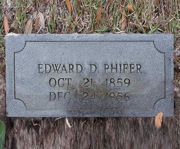 Edward D. Phifer Gravestone Photo
