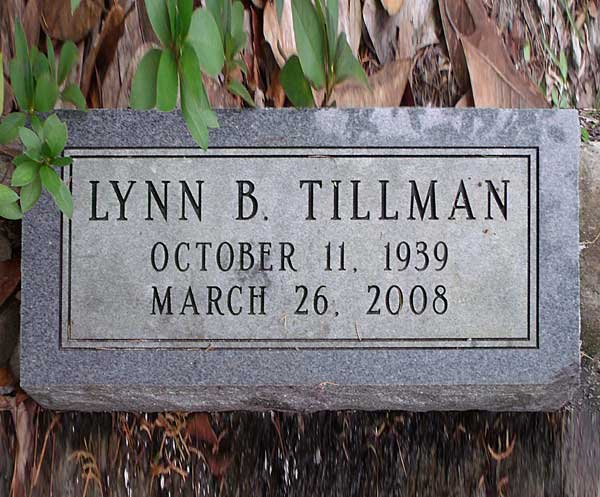 Lynn B. Tillman Gravestone Photo