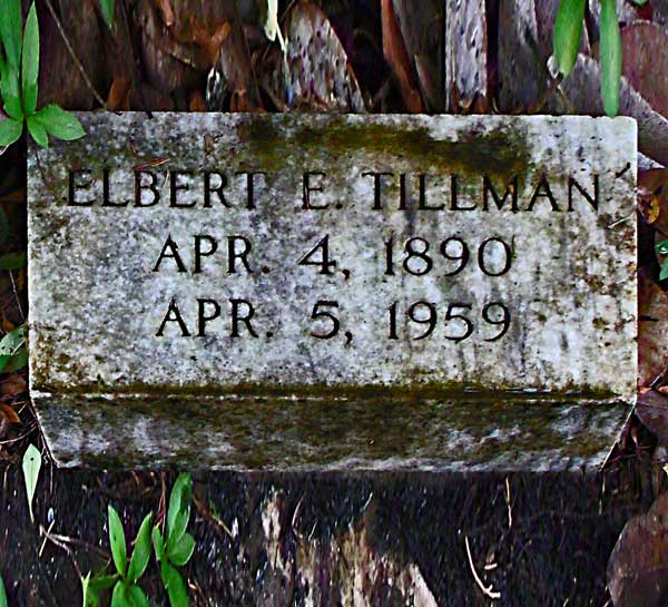 Elbert E. Tillman Gravestone Photo
