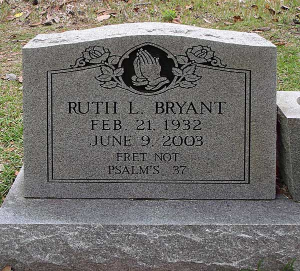 Ruth L. Bryant Gravestone Photo