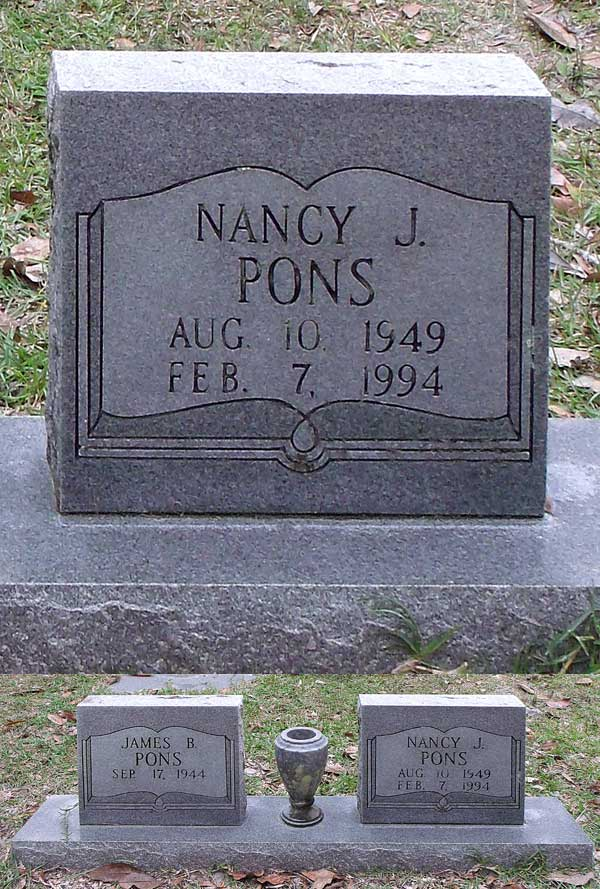 Nancy J. Pons Gravestone Photo