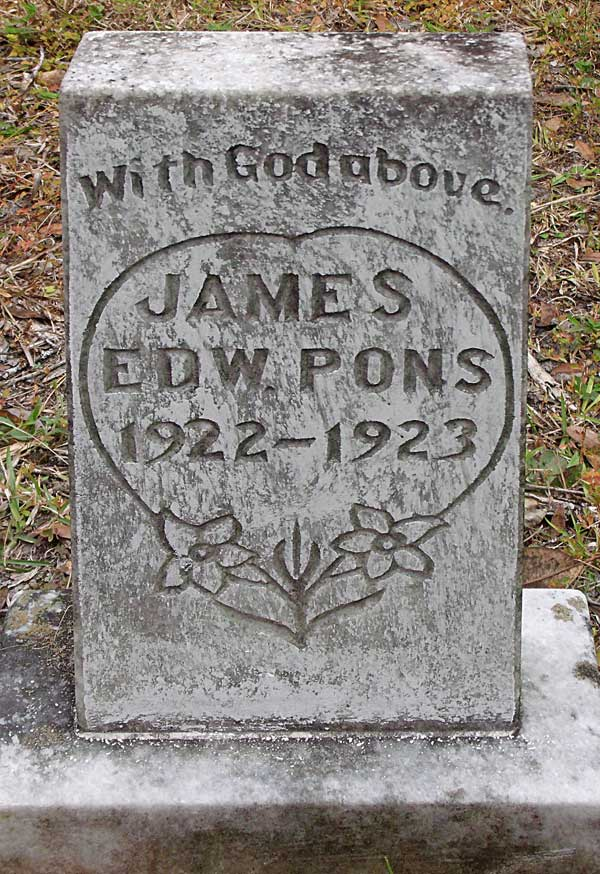 James Edw. Pons Gravestone Photo