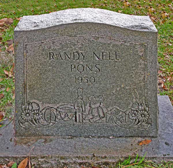Randy Nell Pons Gravestone Photo