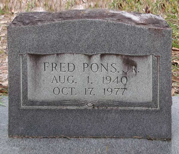 Fred Pons Gravestone Photo