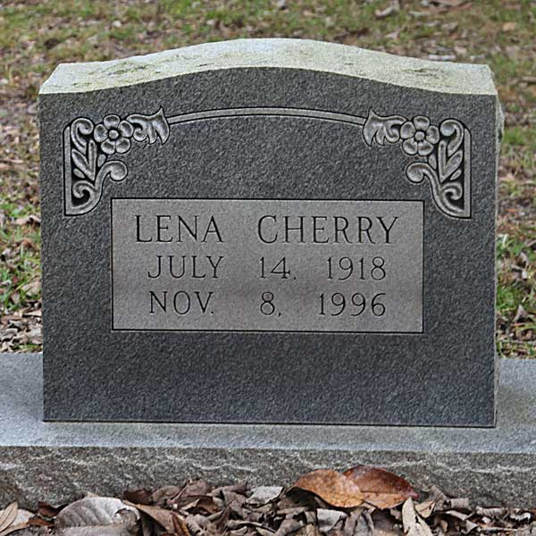 Lena Cherry Gravestone Photo
