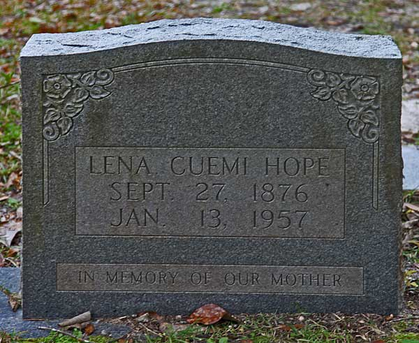Lena Cuemi Hope Gravestone Photo