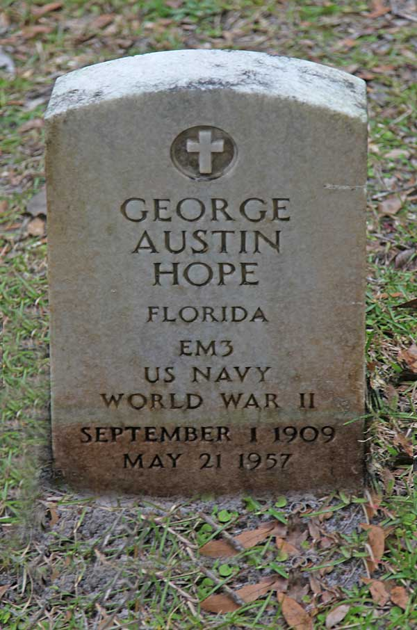 George Austin Hope Gravestone Photo