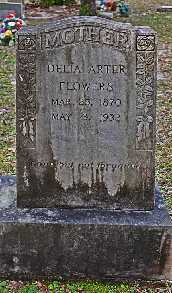 Delia Arter Flowers Gravestone Photo