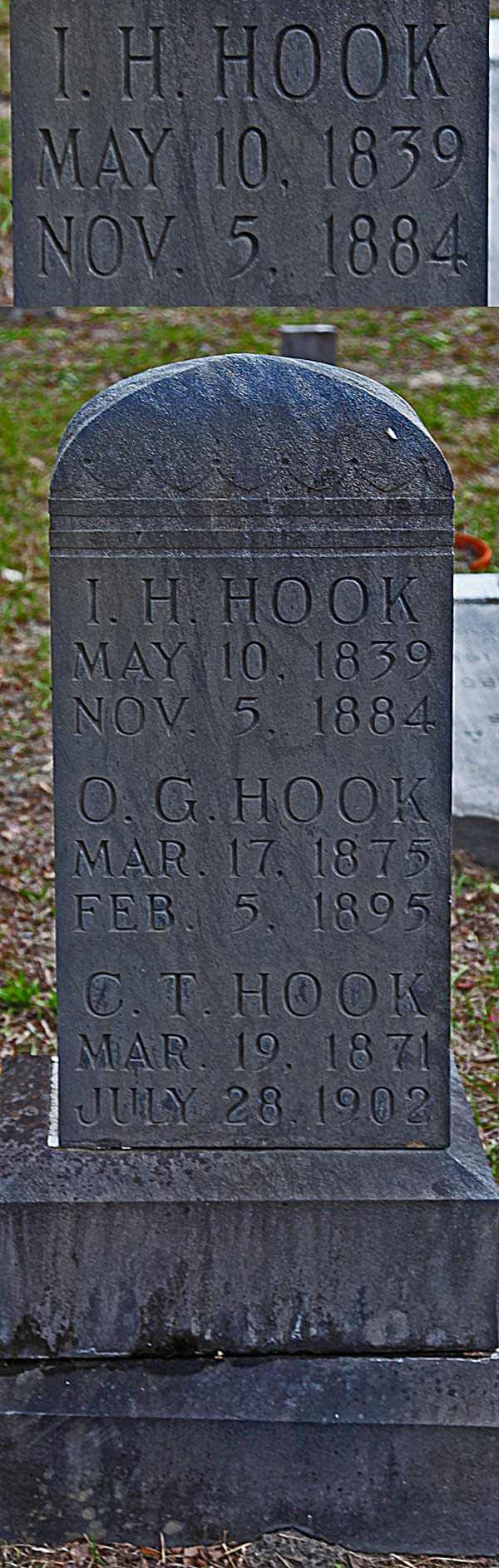 I.H. Hook Gravestone Photo