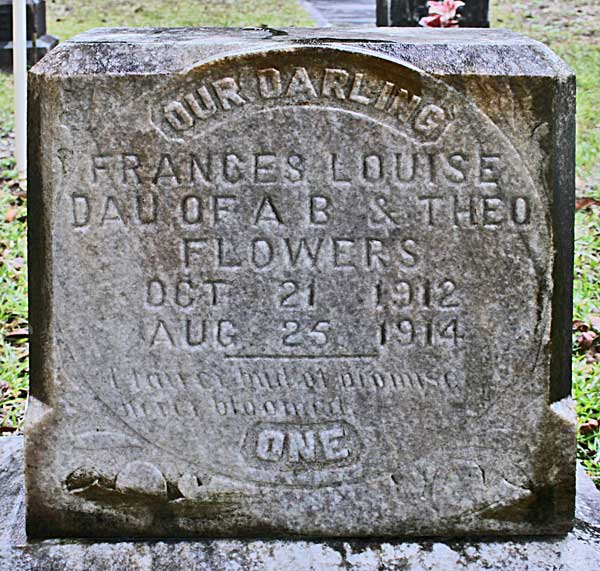 Frances Louise Flowers Gravestone Photo