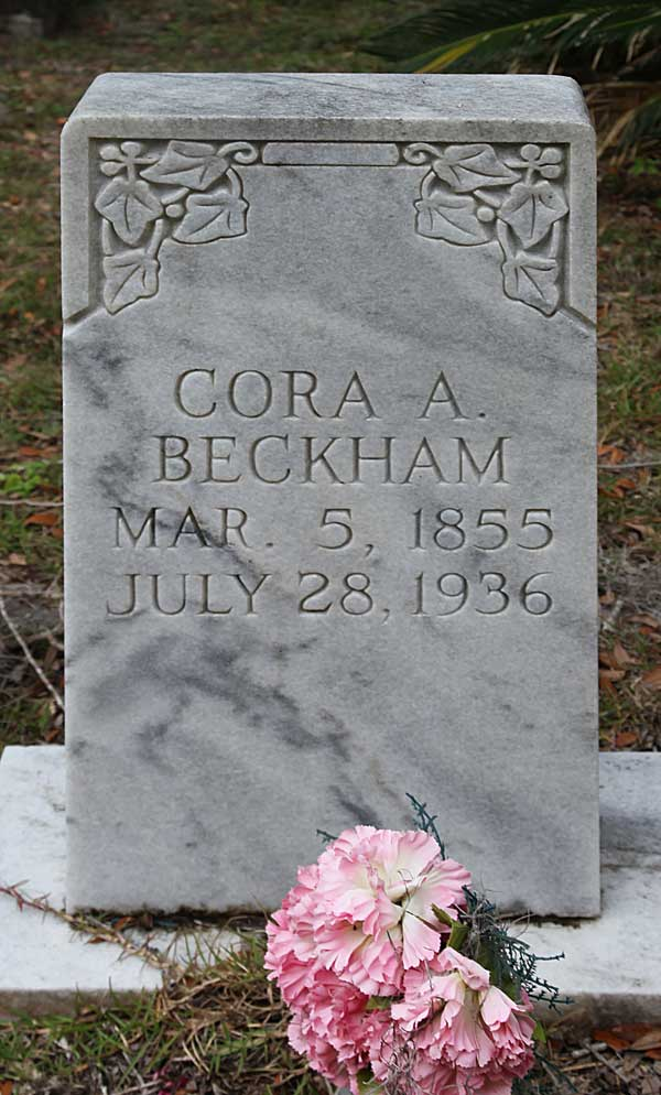 Cora A. Beckham Gravestone Photo