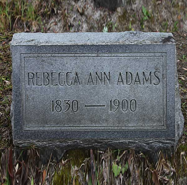 Rebecca Ann Adams Gravestone Photo