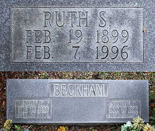 Ruth S. Beckham Gravestone Photo