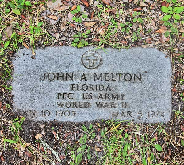 John A. Melton Gravestone Photo