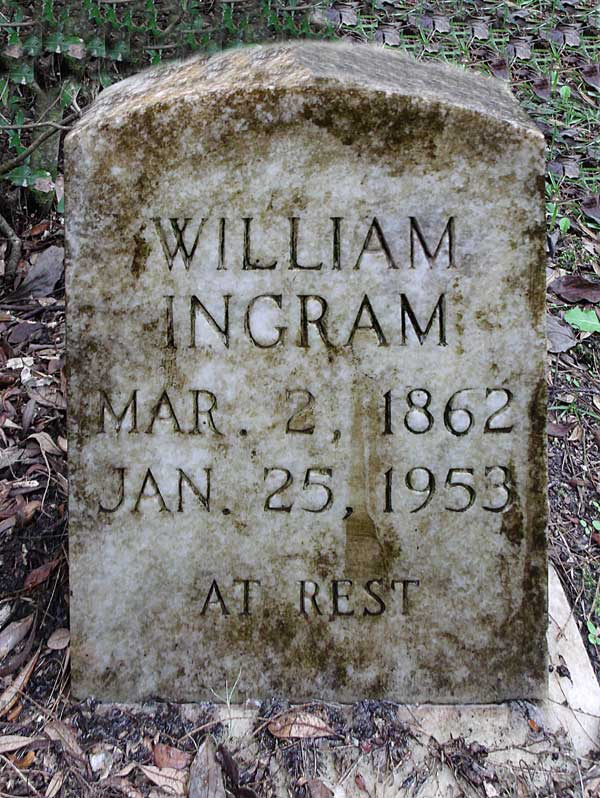 William Ingram Gravestone Photo