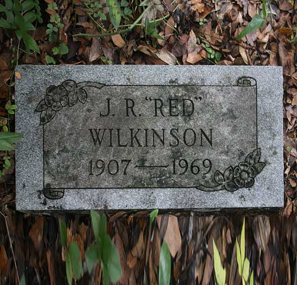 J.R. Wilkinson Gravestone Photo
