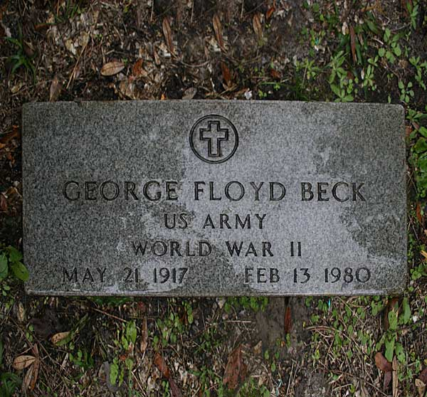 George Floyd Beck Gravestone Photo