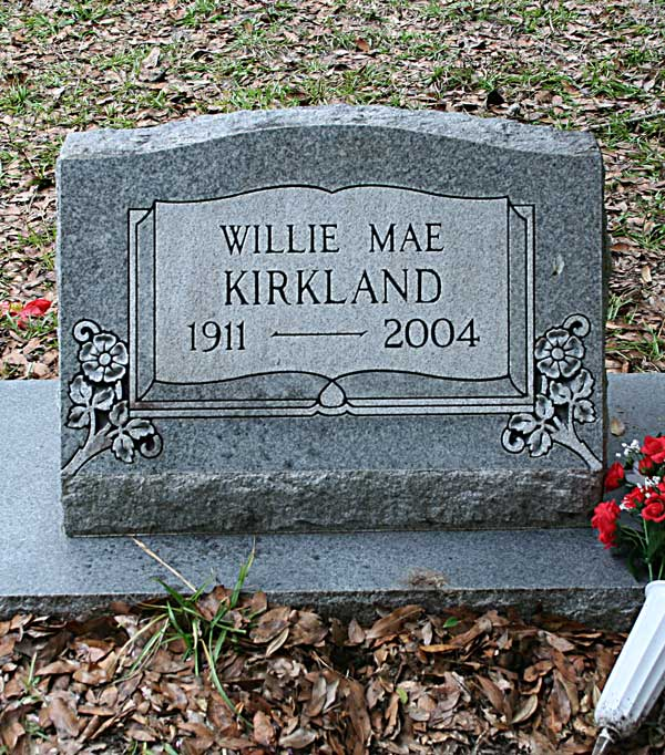 Willie Mae Kirkland Gravestone Photo