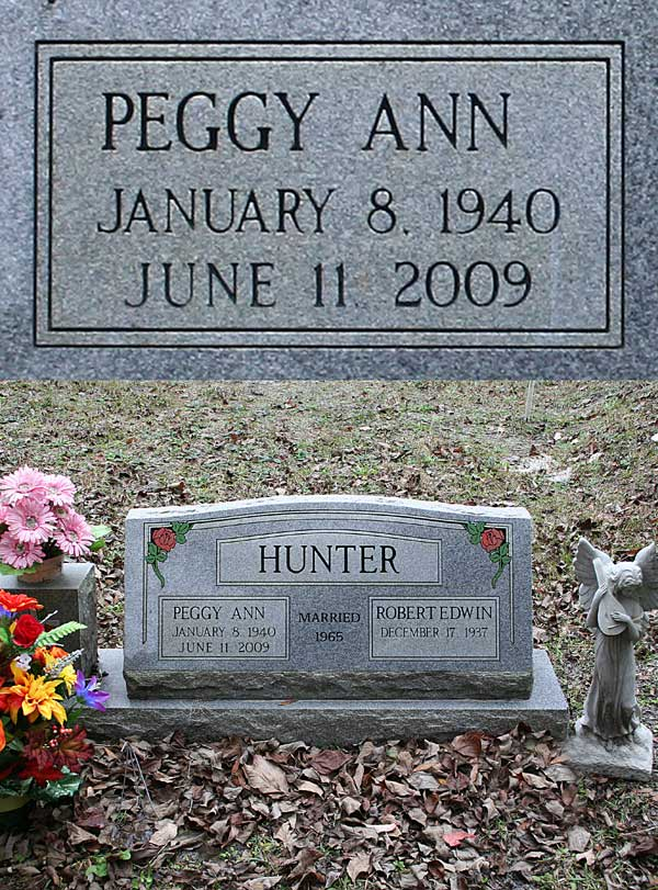 Peggy Ann Hunter Gravestone Photo