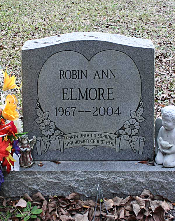 Robin Ann Elmore Gravestone Photo