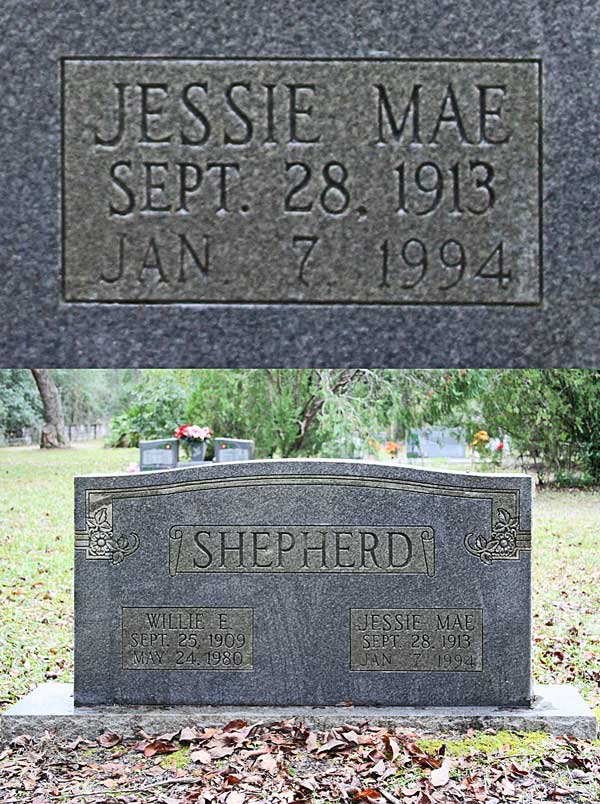 Jessie Mae Shepherd Gravestone Photo