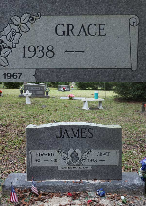 Grace James Gravestone Photo