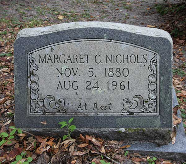 Margaret C. Nichols Gravestone Photo