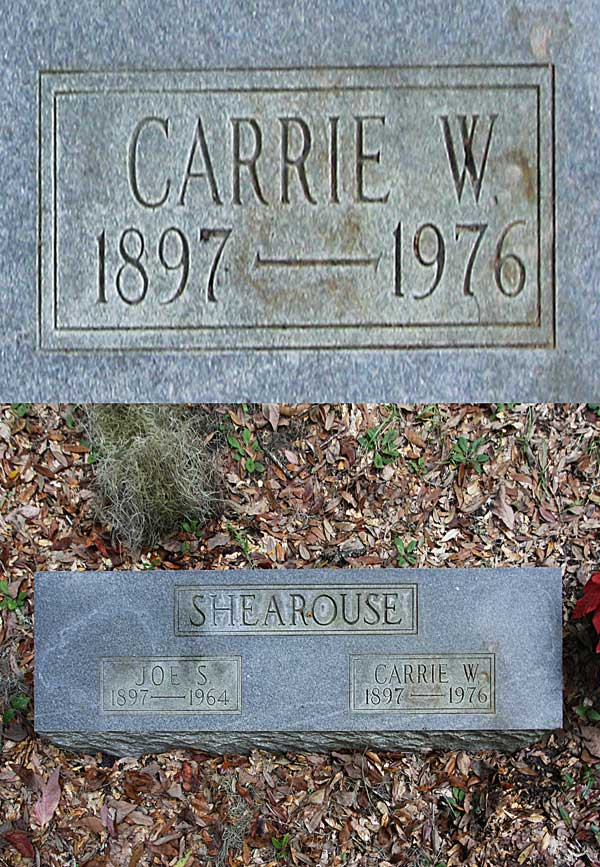 Carrie W. Shearouse Gravestone Photo