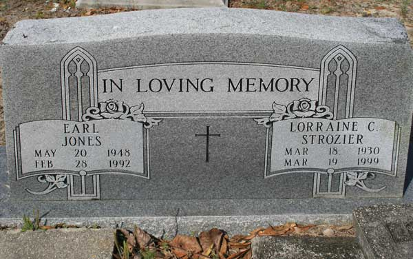Earl/Lorraine C. Jones/Strozier Gravestone Photo