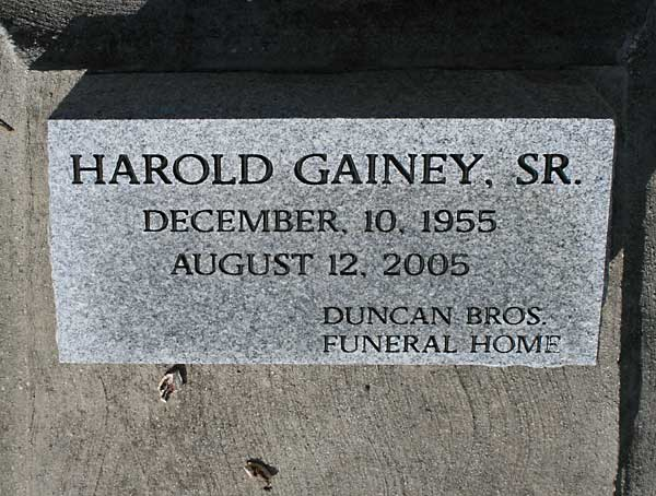 HAROLD GAINEY Gravestone Photo