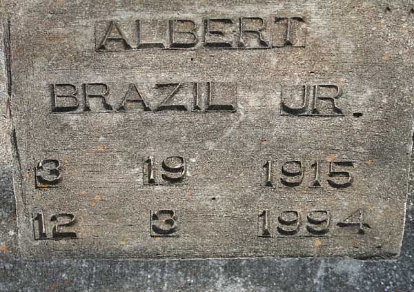 ALBERT BRAZIL Gravestone Photo
