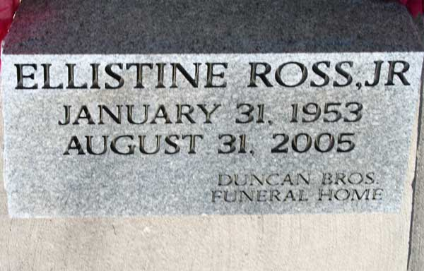 ELLISTINE ROSS Gravestone Photo
