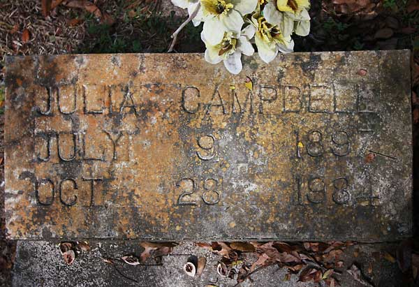 Julia Campbell Gravestone Photo