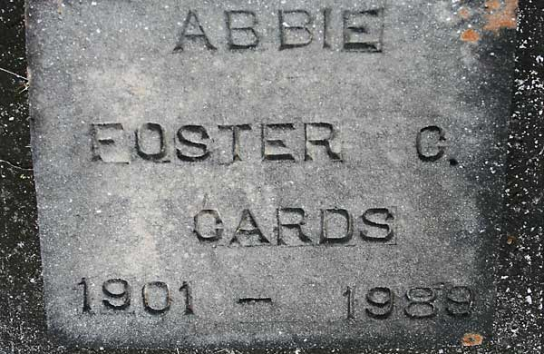 Abbie Foster C. Cards Gravestone Photo