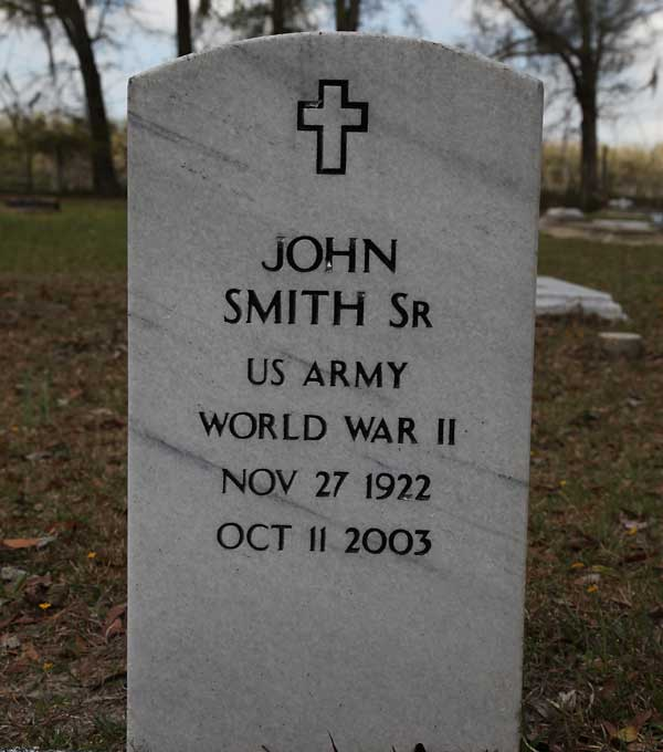 JOHN SMITH Gravestone Photo