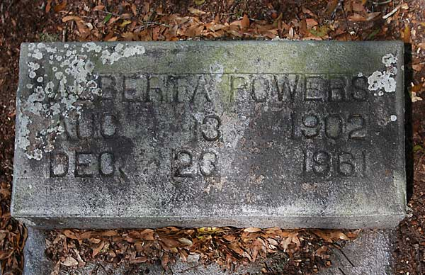 BERIA POWERS Gravestone Photo