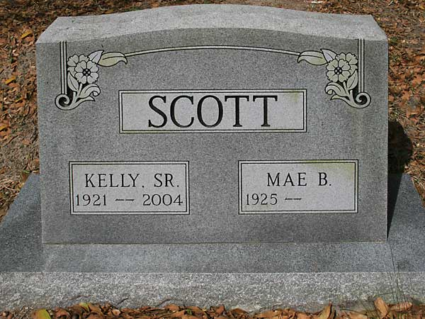 KELLY & MAE B SCOTT Gravestone Photo
