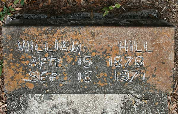 WILLIAM HILL Gravestone Photo
