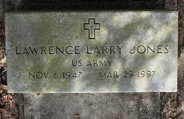 LAWRENCE L. JONES Gravestone Photo