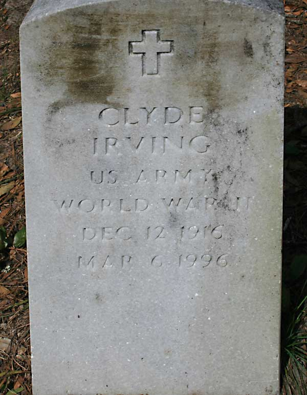 Clyde Irving Gravestone Photo