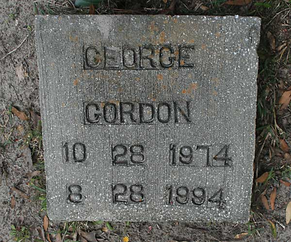GEORGE GORDON Gravestone Photo