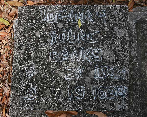 JOANNA YOUNG BANKS Gravestone Photo