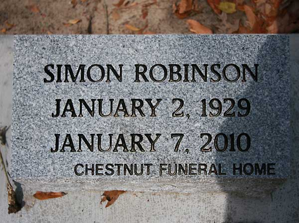 SIMON ROBINSON Gravestone Photo