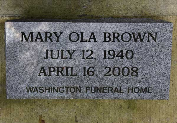 MARY OLA BROWN Gravestone Photo