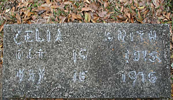 CELIA SMITH Gravestone Photo