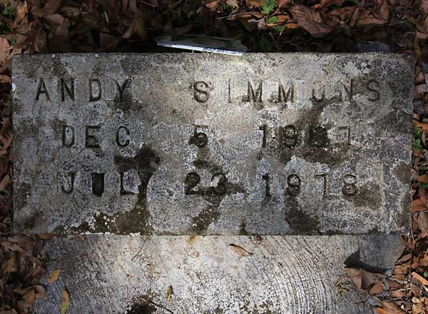 ANDY SIMMONS Gravestone Photo