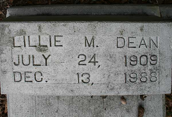 LILLIE M. DEAN Gravestone Photo